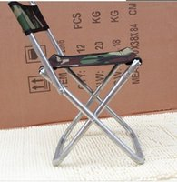 Wholesale Beach Chair Furniture - Wholesale-House Scenery Outdoor Furniture Folding Beach Galvanized Chair Camping Fishing Stool