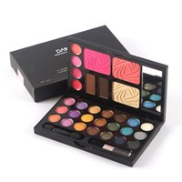 палитра губ тени для век оптовых-Wholesale-Fashion 21 Color Eyeshadow Palette Cosmetic  Eye Shadow Palette Maquillage Symphony Shimmer Box Lip Glos Make Up Set