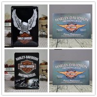Wholesale Decorative Painting Metal - Harley Davidson Cycles Vintage home Bar Pub Hotel Restaurant Coffee Shop home Decorative Metal Retro Tin Sign
