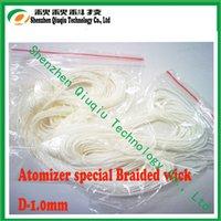 Wholesale Silica Glass Fiber - Wholesale- 2014 silica more 96%,High quality e-cig braided glass fiber wick1.0mm,Free shipping by DHL 1 kilogram or more kilogram
