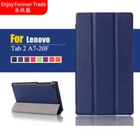 Wholesale tablet tab2 for sale - For Lenovo Tab Tab2 A7 F A7 A7 f A7 Tablet Cases Custer Tri fold PU Leather Case Cover with inch Tablet PC