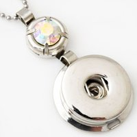 Wholesale Chian Wholesale - D00047 noosa chunks necklace pendent snap buttons noosa pendant noosa jewelry withour chian