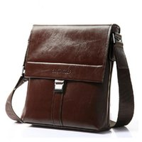 Wholesale- Fashion Business Briefcase Real Cowskin Men Messenger Bags Vintage épaule cross-body sacs en cuir véritable sacs homme
