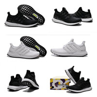 Wholesale 2017 High Quality White Black Ultra Boost Running Shoes Men Women Ultraboost Athletic Shoes Unisex Sports Sneakers Eur
