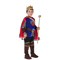 erkek kral kostümü toptan satış-Shanghai Hikayesi Cadılar Bayramı Cosplay Kostüm Çocuklar için Kral Kostümleri çocuk Günü Erkek Prens Fantasia Infantil ço ...