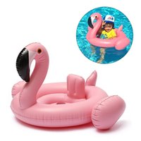 Wholesale Inflatable Toddler Bath - Inflatable Baby Child Swimming Pool Swan Flamingo Seat toddler Water beach Toys Kids Gift (pink)