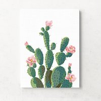 Wholesale Cacti Mural Oblong Shape Tropical Plant Floral Wall Painting Living Room Bedroom Decorative Arts And Crafts gf C R