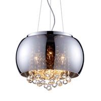 führte schmetterling kronleuchter großhandel-Moderne glas lampenschirm kristallkugeln pendelleuchte schmetterling wohnzimmer deckenleuchte esszimmer pendelleuchte restaurant kronleuchter