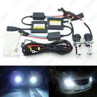 FEELDO 35W AC Farol do carro H4 HID Xenon Bulb Hi / Lo Beam Bi-Xenon Bulbo Light Digital Slim Ballast HID Kit # 4482