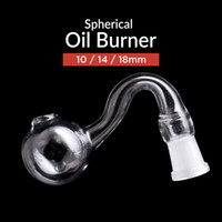 Wholesale Tobacco Pipes For Wholesale - Bend Glass Oil Burner for Water Pipes Tobacco Pipe and Smoking Tobacco Pipes with 10   14   18mm Joint Cheap Hand Pipe