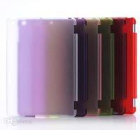 Wholesale Ipad Pu - NEW PU leather case Smart cover for iPad Air air 2 ipad 2 3 4 5 6 ipad mini mini 2 mini 4 with crystal transparent hard PC back case