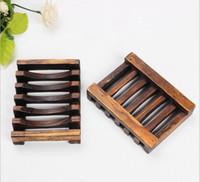 ingrosso portasapone d'epoca-Fashiom Portasapone in legno vintage Portasapone Doccia Lavaggio a mano 10,8 cm * 8 cm * 2,4 cm Accessori da bagno