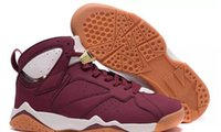 Wholesale Pu Leather Bunny - Drop shipping 2017 wholesale air Retro 7 Cigar 7s Hare Bugs Bunny White brown men basketball shoes sports sneakers size 8-13