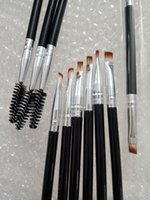 Wholesale Eye Brow Kits - Makeup Eye Brow Eyebrow Brush Synthetic Duo Makeup Brushes Double Eyebrow Brush Head Brushes Kit Pinceis DHL Free