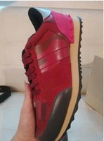 Wholesale Canvas Fabric Yard - Big yards 44 Designer Brand sneakers colorful trainers camouflage casual shoes Men Women genuine leather Shoes Plus size 36-44