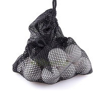 Wholesale Golf Nets Wholesale - Wholesale- Black Nylon Mesh Nets Bag Pouch Golf Tennis 48 Balls Carrying Holder Hold Ball Storage Training Aid Durable Outdoor Sports