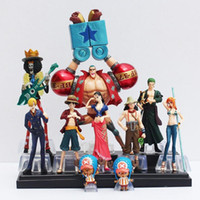 Wholesale One Piece Figure Collections - 10pcs set Free Shipping Japanese Anime One Piece Action Figure Collection 2 YEARS LATER luffy nami roronoa zoro hand-done dolls