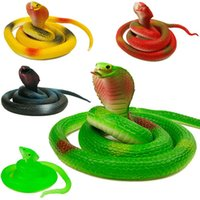 10pcs Prank Toys Snap de caoutchouc 75CM Halloween Snap de caoutchouc Soft Simulation Cobra Tricky toys Jokes for Kids Party Favors