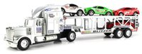 Wholesale Truck Battery Wholesale - Speed Blitzer Trailer Children's Friction Toy Truck Ready To Run Big Size w  5 Toy Cars, No Batteries Required #230923