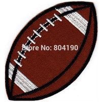 "Wholesale Cheap Sport Patches - 3.5"" SPORT BALL Football Logo Iron On Patch jersey Sport Embroidered Iron On Patch Badge wholesale cheap dropship"