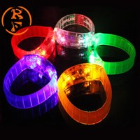 Wholesale Sound Music Activated - Music Activated Sound Control Led Flashing Bracelet Light Up Bangle Wristband Club Party Bar Cheer Luminous Hand Ring Glow Stick Night Light