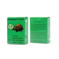 Wholesale 2017 Novelty Playing Cards Game Awkward Turtle The Adult Party Word Game With A Crude Sense Of Humor English Word Guessing Game
