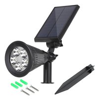 Wholesale Solar LED Lamp Solar Powered Spotlight RGB White Color changeable Waterproof Outdoor Garden Landscape Yard Decoration Light