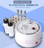 Wholesale Diamond Dermabrasion Machines - Multifunction Dermabrasion Machine 3 In 1 With Sprayer Vacuum For Head Spot Removal Microdermabrasion Facial Machine Diamond Skin Peeling CE