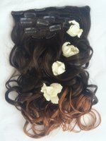 Wholesale Best Synthetic Hair Extensions Top Quality Clip In Hair Weave Bundles Natural Color No Shedding Dyeable g
