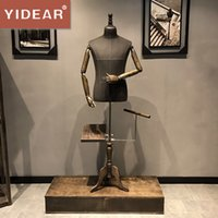 Wholesale Mannequin Dress Forms - Yidear high quality male half body fabric garment clothes store men's dress form mannequin display props for sale
