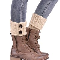 Wholesale Boot Socks Warm - Wholesale- Toopoot 2016 Women Knitting Leg Warmers Boot Cover Keep Warm Winter Socks Girls Top Quality