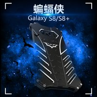 Wholesale Galaxy R Cover - BATMAN metal phone case For Samsung Galaxy s8 S7 Edge S6 edge plus + note 5 case Armor Aluminum Kickstand Protector R-JUST cover Shockproof