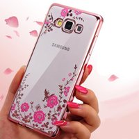 Wholesale Luxury Garden Wholesale - TPU cases for Samsung galaxy S7 edge S8 luxury glitter Electroplate Plating Secret garden diamond fashion phone cases for S6 A3 j2 prime