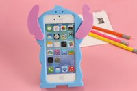 Wholesale Lilo Stitch Iphone 4s Cases - 3D Cartoon Silicone Rubber Lilo Stitch Case Cover for iPhone 6 6s Plus 5 5s 4 4s Samsung Galaxy S5 s6 s4 Note 3 4