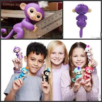 Wholesale Cheap Christmas Toys - 2017 cheap gifts 6 Colors Monkey Fingerlings Monkey Finger Toys Wedding Party Gifts Electronic Smart Touch Hand Finger Toy As Christmas Gift