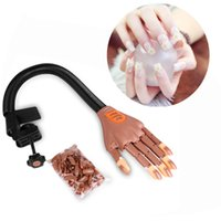 Wholesale Nail Art Training Practice Hand - 1 Hand+100 Tips Nail Trainer Tool Adjustable Model Hand Practice DIY Nail Training Manicure Tool Nail New Art Equipment