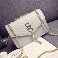 Wholesale New women chain Diamond Lattice single shoulder cross body bag lady fashion evening bag black red white grey Champagne color no74
