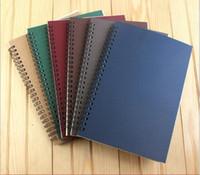 cuadernos de diario al por mayor-2017 nueva escuela cuaderno espiral Borrador reutilizable Reutilizable Cuaderno recargado Diario A5 papel Tema College Ruled logotipo personalizado (7)