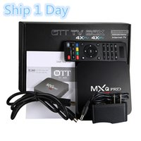 Wholesale Best Price MXQ PRO Quad Core Amlogic S905X K Android TV BOX K KD Fully Loaded G WIFI