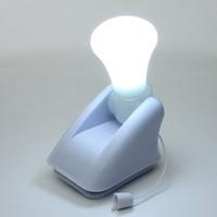 Wholesale Self Adhesive Led Lighting - New Portable Night Light Stick Up LED Cabinet Closet Bulb Lamp Self Adhesive Nightlight Battery Wall Mount Energy Saving