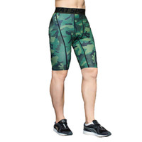 Wholesale Men S Camo Underwear - Wholesale- New outdoor men's running compression tights shorts sports soccer undershorts cycling underwear shorts trousers men camo shorts