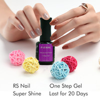 Wholesale Gel Unhas - Wholesale- RS 15ML one step uv gel nail polish set unhas de gel varnish 3 in 1 nail glue uv gel lucky vernis a ongle vernis a ongle harmony