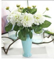 Wholesale Big Beautiful Homes - Wholesale Beautiful Free shipping 4colors Artificial Big Silk Peony Artificial flower Flower Arrangement weddding or Home Room decoration