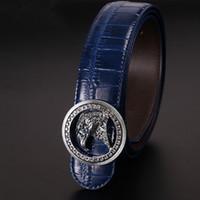 Wholesale leather pants 36 men - New Genuine Leather Good Quality business mens belt luxury Designer brand Buckle Mens Belts For Men Jeans pants eagle pattern