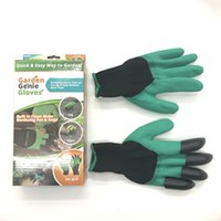 Wholesale Garden Genie Gloves with Fingertips Claws Quick Easy to Dig Garden Digging Planting Gloves Waterproof Mittens Digging gloves LC532