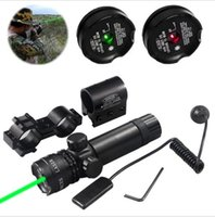 Wholesale 532nm Green Laser Gun Mount - Shockproof 532nm Tactical Green  Red Dot Laser sight rifle Gun scope Rail and Barrel Mounts Cap Pressure Switch For Hunting