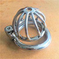 Wholesale Chasity Cages - Screw lock design small male chastity device 45mm chastity cage new metal chasity devices for men
