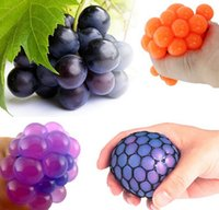 Wholesale geek gadgets - Wholesale-New Cute Anti Stress Face Reliever Grape Ball Autism Mood Squeeze Relief Healthy Toy Funny Geek Gadget Vent Toy