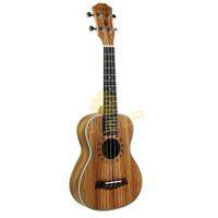 Wholesale Guitar Music Beginners - Wholesale- NEW 23 inch Concert Ukulele Guitar Zebrawood 4 Strings Hawaii Guitar Musical Instruments for Beginner Music Lover