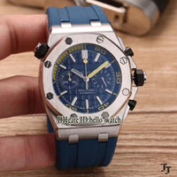 Wholesale Cheap Divers Watches - More Style Luxury Brand Diver high quality Blue Dial Quartz Chronograph Mens Watch Blue Rubber Strap Sport Cheap New Sport Wirstwatches